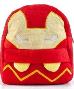 На картинке плюшевый рюкзак Железный Человек (Iron Man), вид спереди.