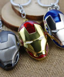 На картинке брелок маска Железного человека (Iron Man) 3 варианта.