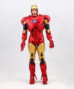 На картинке модель (статуэтка) Тони Старка в костюме Железного Человека (Iron Man Mark 42), вид спереди.