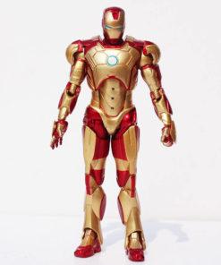 На картинке фигурка Железный Человек Марк 42 (Iron Man), вид спереди.