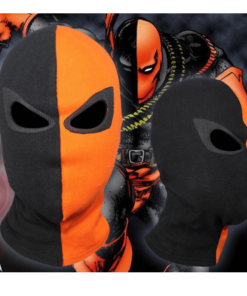 На картинке маска Дестроука (Deathstroke), вид спереди.
