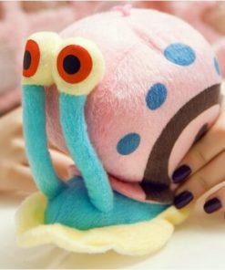 На картинке мягкая игрушка Улитка Гэри из Спанч Боба, общий вид.