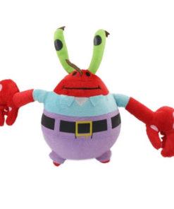 На картинке мягкая игрушка Мистер Крабс из Спанч Боба, вид спереди.