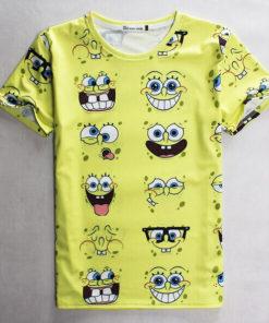 На картинке футболка со Спанч Бобом (Губка Боб), вид спереди.