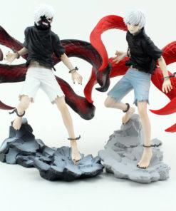 На картинке фигурка Канеки Кена из аниме Токийский гуль (Tokyo Ghoul) 2 варианта, вид спереди.