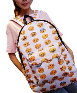 На картинке рюкзак emoji (эмоджи), вид спереди.