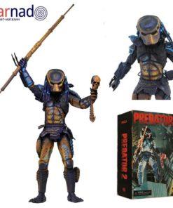 На картинке коллекционная фигурка Хищник Городской Охотник (Predator City Hunter Neca \ Нека), вид спереди.