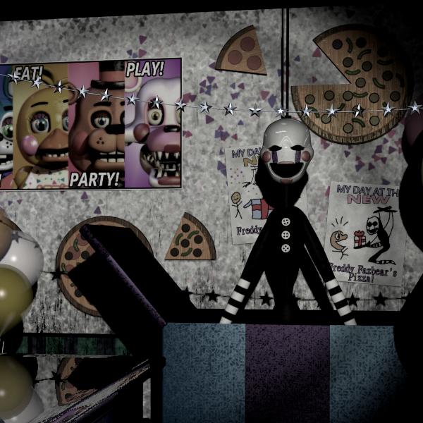 мебели картинки комнаты марионетки из фнаф устроить вечеринку