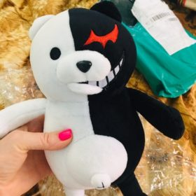 Мягкая игрушка Мономишка  Монокума из аниме Школа отчаяния (Danganronpa)